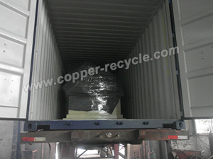 copper cable granulator in truck